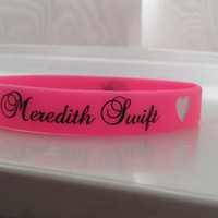 Taylor Swift Inspired Meredith Wristbands By Swifties
