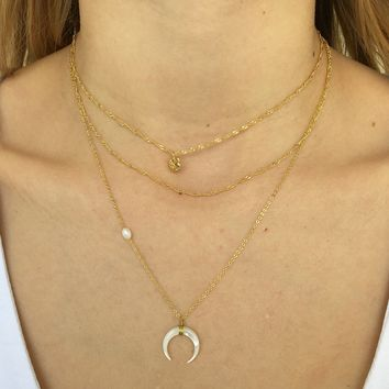 My Love Layered Necklace in Gold