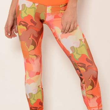 Ana Zabella Orange Waist workout capri pant (with pocket)