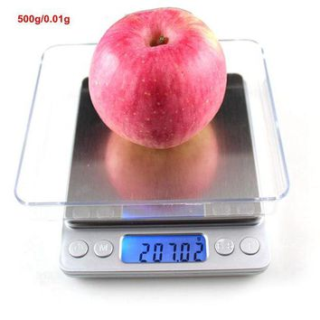 DCCKFS2 500gx0.01g Mini Libra Digital Kitchen Scales for Food Fruit Jewelry Scale Weighing Balance