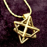 Merkaba Pendant - Sacred Geometry, Flower of Life, Seed of Life, Star of David, Kabbalh Jewelry
