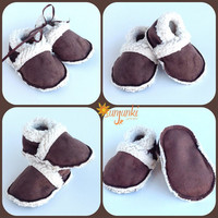 Baby Moccasin Slipper Baby Bootie Boy Girl Unisex Shoe Soft Sole Infant Toddler Soft Sole Suede Crib Shoe Baby Shower Gift