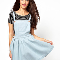 Primark | Primark Denim Pinafore Skater Dress at ASOS