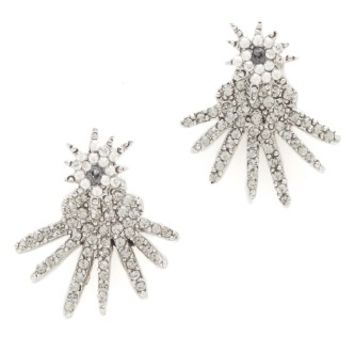 Celestial Star Back Drop Earrings