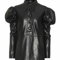 Breuer leather blouse