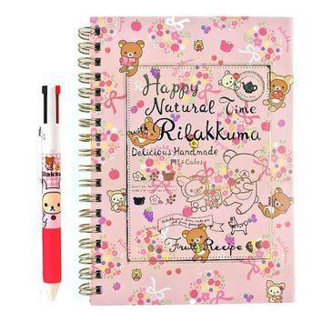 San-x Natural Time Rilakkuma School Supply Stationary Set : A5 Note & Multi Pen $8.99