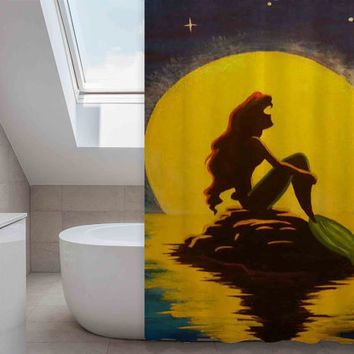 ariel the little mermaid  custom shower curtain