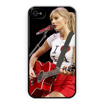 Taylor Swift Cute Perform Guitar iPhone 4/4S Case