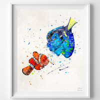Marlin and Dory, Finding Nemo Print - Artwork Print | Inkist Prints | Inkist Prints