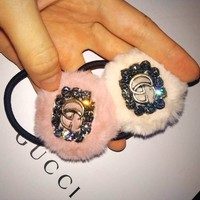 GUCCI Popular Women Cute GG Hair Rope Head Rope Hair Band