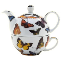 Butterflies Tea for One  10oz Cup ~ 16oz Pot