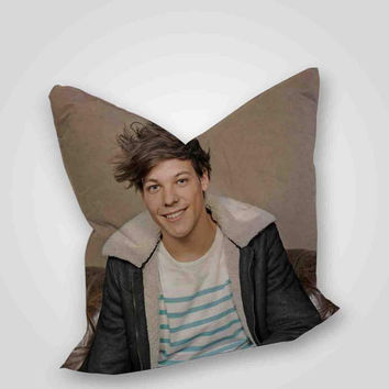 Louis tomlinson one direction, pillow case, pillow cover, cute and awesome pillow covers