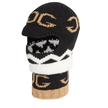 Zig Zag Hooded Facemask by Gucci