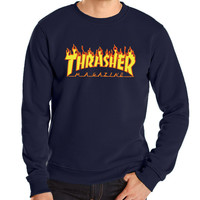 new autumn winter funny hoodies sweatshit harajuku fashion thrasher sweatshirt hip hop fleece brand trasher men sweatshirts