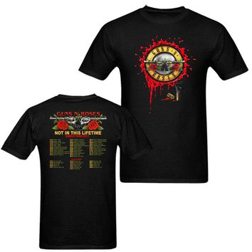 Guns N Roses Not In This Lifetime 2017 world tour T-Shirt Men and Women Rock Tee Big Size S-XXXL