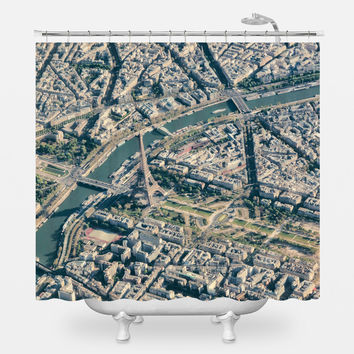 Paris From Above Shower Curtain