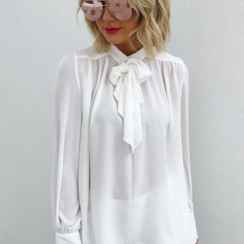 Endless Potential Blouse: White