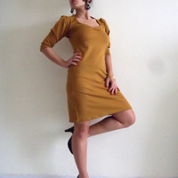 Custom Dress Made to order 'Dida' mustard custom dress