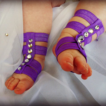 Baby Gladiator Sandals, Barefoot Baby Sandals, Birthday Outfit, Newborn Gladiator Sandals, Baby Girls Crib Shoes, Baby Sandals, Coming Home