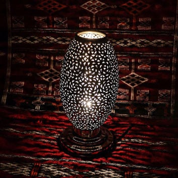 Magical Vintage Moroccan Brass Lamp