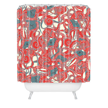 Best coral shower curtain products on wanelo for Tentacle shower curtain