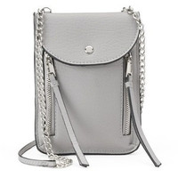 Juicy Couture Small Chain And Zipper Crossbody Grey