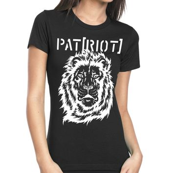 Inverted Lion Head t-shirt, womens