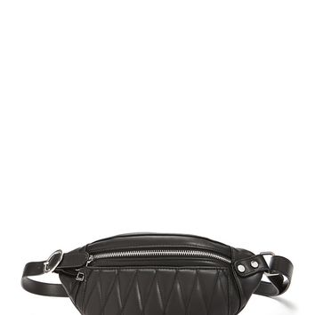 Quilted Faux Leather Belt Bag