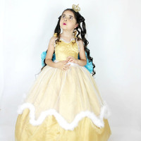 Princess Costume - Gold Princess Dress - Birthday Costume - Ethereal dress