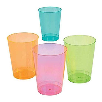 Neon Colors Plastic Cups (50 ct)