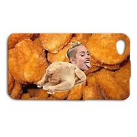 Cute Miley Cyrus Phone Case Funny Chicken Nugget Cover iPhone iPod Cool Custom