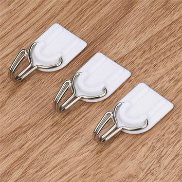 Strong Adhesive Hook Wall Door Kitchen Sticky Hanger Holder