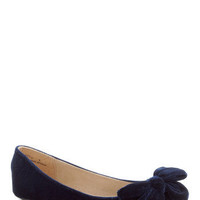 Point Your Bows Flat in Sapphire | Mod Retro Vintage Flats | ModCloth.com