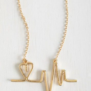 Nifty Nerd And the Beat Goes Aw Necklace by ModCloth