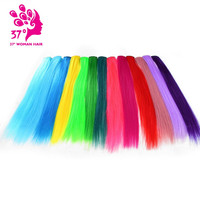 """Dream Diana Clip-in One Piece for Ombre Hair Extensions 16""""40cm Pure Color Straight Long Synthetic Hair"""