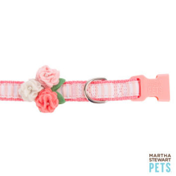 Dog Collar With Flower Martha Stewart