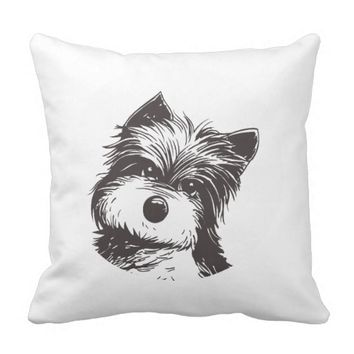 my dog throw pillow