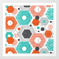 Too Hip To Be Square Art Print by Heather Dutton