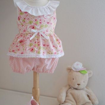 Pink Summer Blooms Baby Set