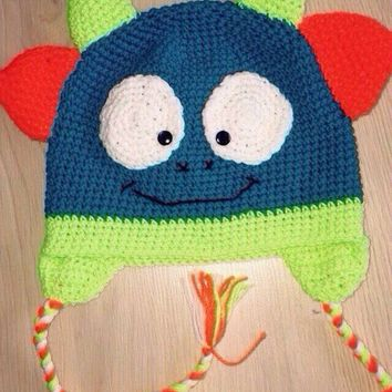 4eaac67a5b4 Shop Crochet Monster Hat on Wanelo