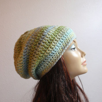 Slouchy Beanie Hat Crochet Slouch From Knottymonkey On Etsy