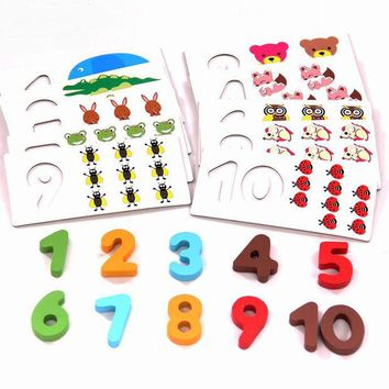 DCCKL72 High Quality early education Maths Toys Wooden Montessori Mathematics Math Material Toy for Kids Children Gift W022
