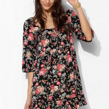 Band Of Gypsies Ruffle-Hem Babydoll Dress - Urban Outfitters