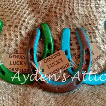 Genuine lucky horseshoe. Gift of luck. Housewarming gift. Country wedding. Rustic home decor. Country decor. Western nursery. Country baby