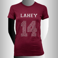 Lahey 14 Quote White print beacon hills lacrosse Women tee Maroon or Black