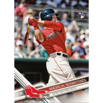 ANDREW BENINTENDI ROOKIE RED-SHIRT SET VARIATION SP 2017 TOPPS #283 RED SOX RC!