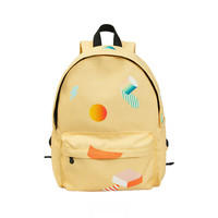 Yellow Geo Backpack