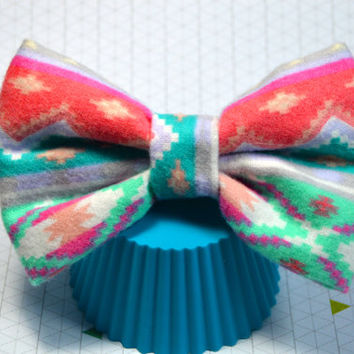 Flannel Fabric Hair Bow, Pastel Color Hair Bow, Large Hair Bow, Big Hair Bow, Cute Hairbow, Fabric Hair Bow, Hair Bow with Alligator Clip