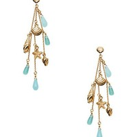 under the sea linear earrings