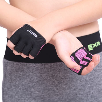 2016 Workout Gloves Crossfit WODS Fitness GYM Yoga Exercise Weight Lifting Powerlifting Training Hand Grips Palm Protect Guantes